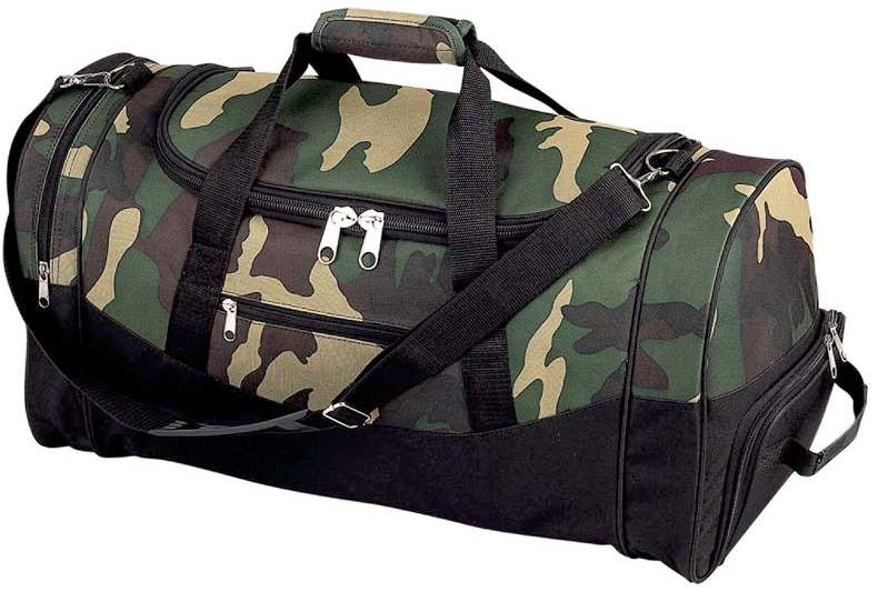 """CAMOUFLAGE WATER-RESISTANT 23"""" TROLLEY TOTE BAG"""