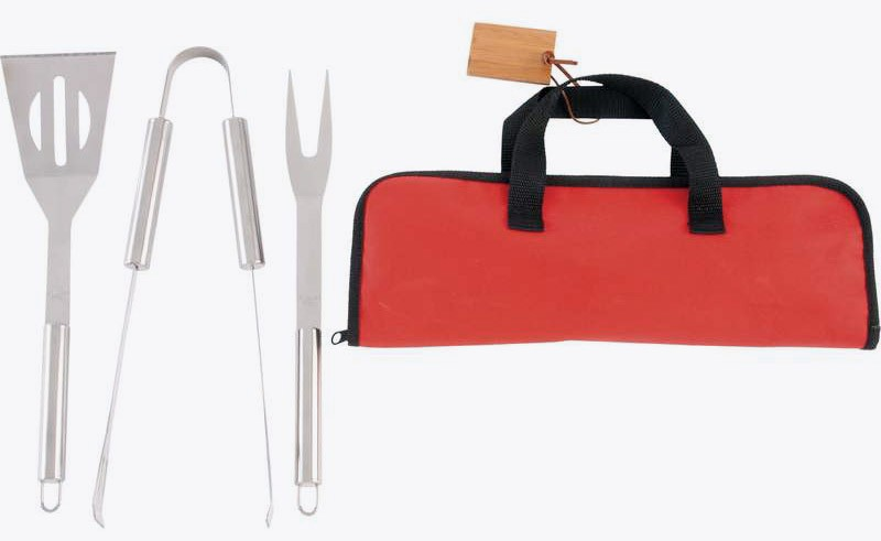 4PC. STAINLESS STEEL BARBEQUE TOOL SET