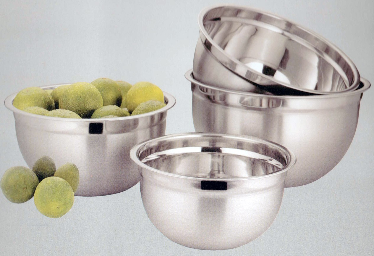 4PC. STAINLESS STEEL MIXING BOWL SET