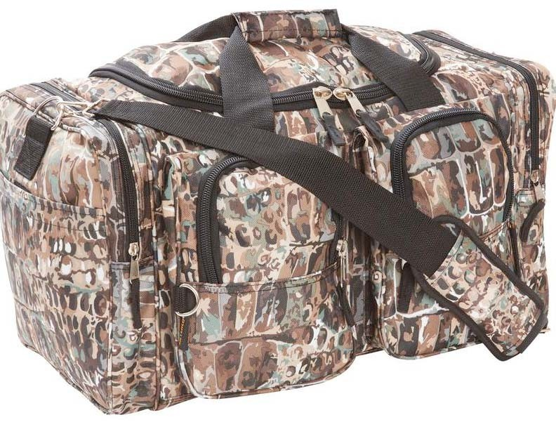 """HEAVY DUTY, WATER REPELLENT 21"""" BULLGATOR CAMOUFLAGE TOTE BAG"""