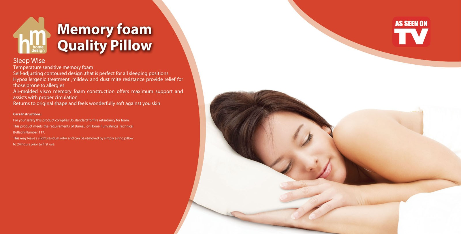 QUILTED MEMORY FOAM PILLOW