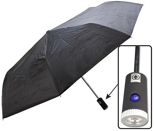 """42"""" UMBRELLA WITH BUILT-IN LED FLASHLIGHT"""