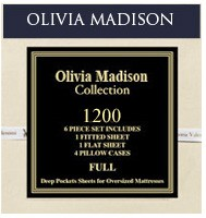 OLIVIA MADISON COLLECTION 1200 SERIES 4PC. SHEET SET