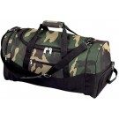 "CAMOUFLAGE WATER-RESISTANT 23"" TROLLEY TOTE BAG"